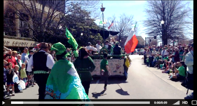 A Jeff's iPhone-eye view of walking in St. Patrick's Day Parade in Huntsville, AL, USA