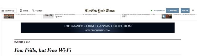 NY Times Biz masthead